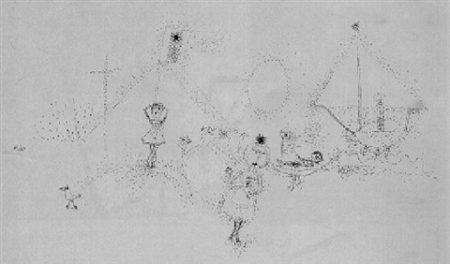 Paul Klee-Gelassene Handlung Am Wasser-1925