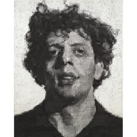 Chuck Close-Phil (Portrait de Philip Glass)-1983