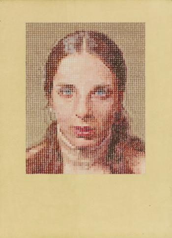 Chuck Close-Leslie - Pastel-1977