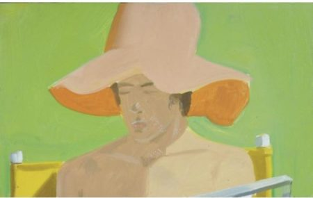 Alex Katz-Boy with Orange Hat No.4-1974