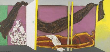 Maqbool Fida Husain-That Obscure Object of Desire VI-