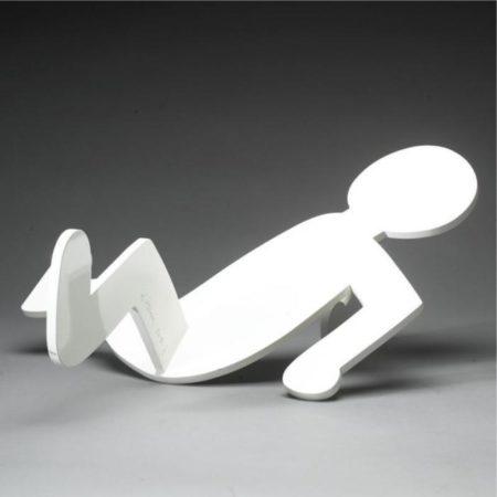 Keith Haring - Fallen Man (White)-1986
