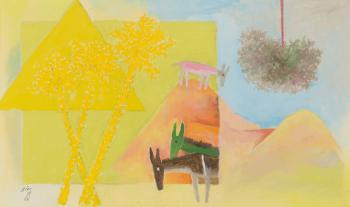 Maqbool Fida Husain-Three Donkies-1971