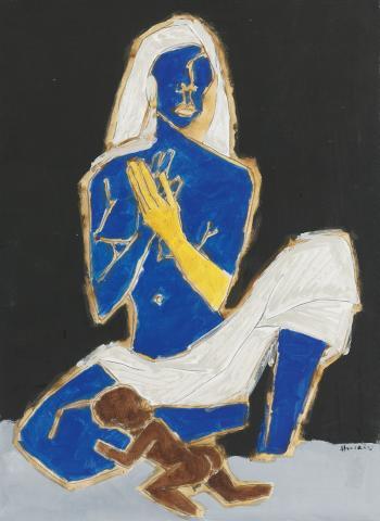 Maqbool Fida Husain-African Woman-