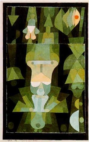 Paul Klee-Gesicht Einer Blute-1922
