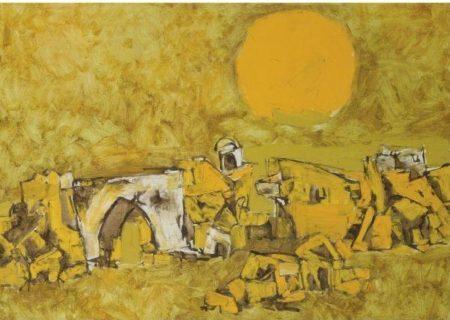 Maqbool Fida Husain-Peeli Dhoop-1964