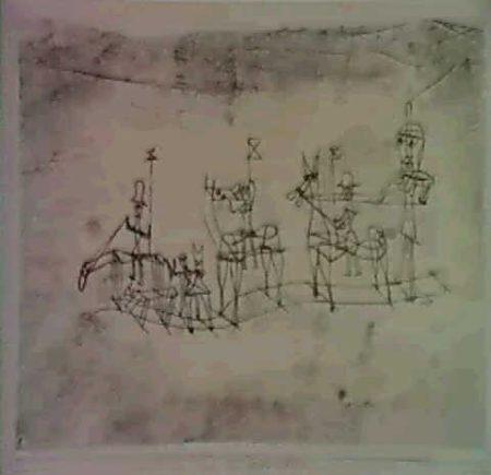 Paul Klee-Festzug Auf Schienen-1923