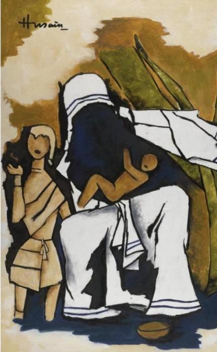 Maqbool Fida Husain-Mother Theresa-