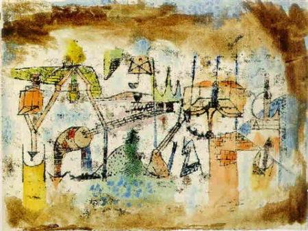 Paul Klee-Landschaft Aus Dem Industrie Gebiet-1920