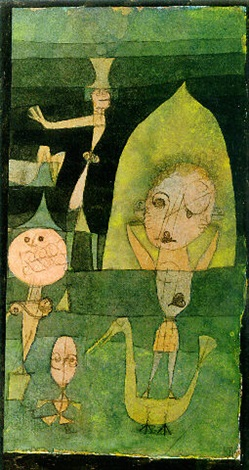 Paul Klee-Kleine Komoedie Auf Der Wiese-1922