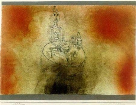 Paul Klee-Vater Und Sohn-1927