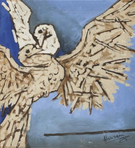 Maqbool Fida Husain-Untitled (Doves)-