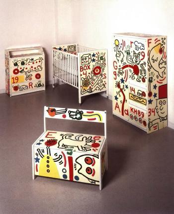 Keith Haring - Set of Children's Furniture-1989