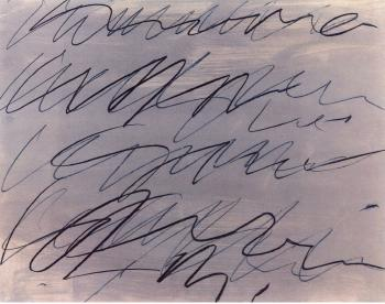 Cy Twombly-Roman Note No.9-1970