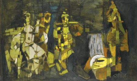 Maqbool Fida Husain-The Puppet Dancers-