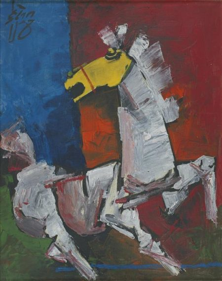 Maqbool Fida Husain-Horse-1960