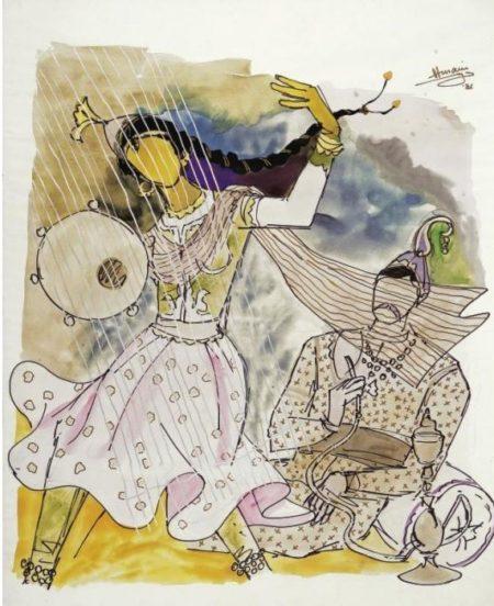 Maqbool Fida Husain-Raj Series-1986