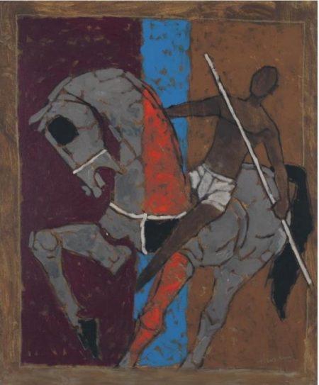Maqbool Fida Husain-Horse and Rider-2005