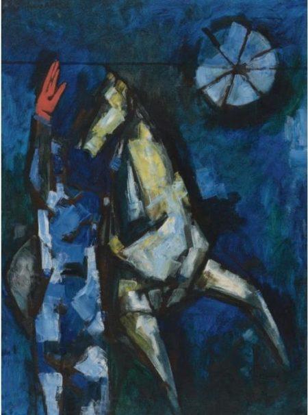 Maqbool Fida Husain-The Horse That Raised A Red Palm-