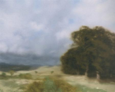 Gerhard Richter-Landschaft mit Baumgruppe (Landscape with Grove of Trees)-1970