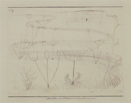 Paul Klee-Zeichnung zu 1923-156 (Vogel im November) (Drawing to 1923 156 (BirdIn In November))-1923