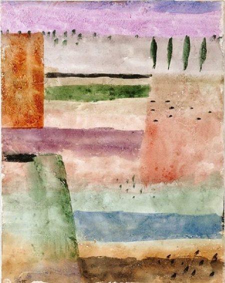 Paul Klee-Landschaft Mit 4 Pappeln (Landscape With 4 Poplars)-1929
