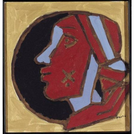Maqbool Fida Husain-Woman's head-