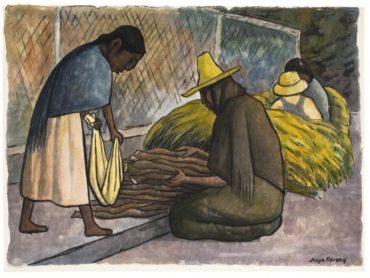 Diego Rivera-Vendedora de Lena-1935