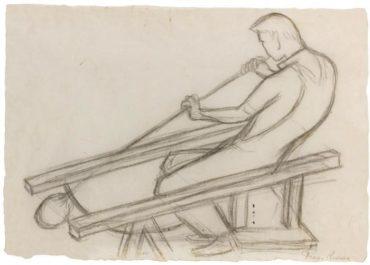 Diego Rivera-Soplador del Vidrio Sentado-1946
