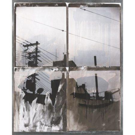 Robert Rauschenberg-Robert Rauschenberg - Japanese Sky I (From Bleacher series)-1988