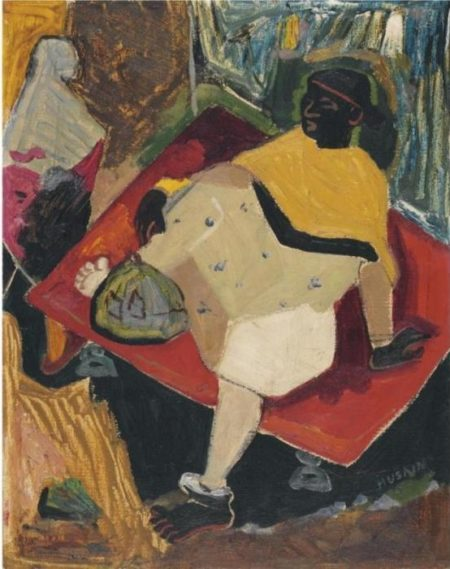 Maqbool Fida Husain-Woman-