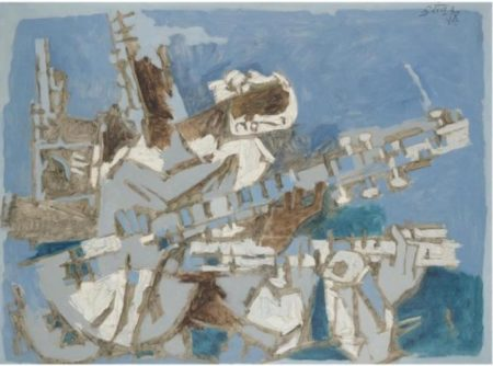 Maqbool Fida Husain-Sitar Player-