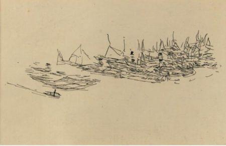 Paul Klee-Dampfschiffe Im Hafen (Steamboats In The Harbor)-1911
