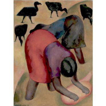 Diego Rivera-Lavanderas con zopilotes-1928