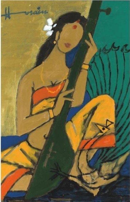 Maqbool Fida Husain-Musician-