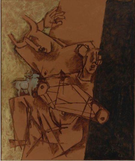 Maqbool Fida Husain-Untitled (Minotaur)-1968