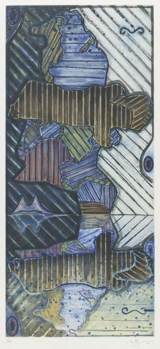 Jasper Johns-Green Angel II-1997