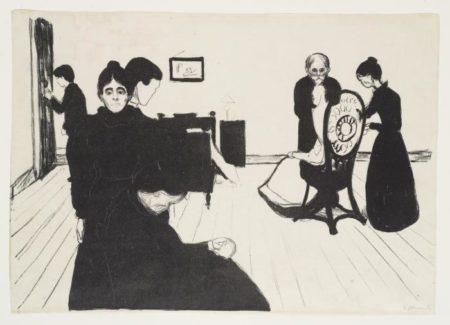 Edvard Munch-Death in the Sickroom / Der Tod im Krankenzimmer / Sterbezimmer (Schiefler 73; Woll 65)-1896
