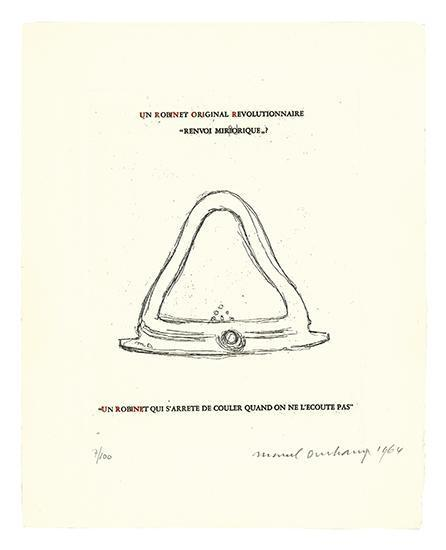 Marcel Duchamp-An Original Revolutionary Faucet: Mirrorical Return (Un Robinet Original Revolutionnaire) (Schwarz 370)-1964