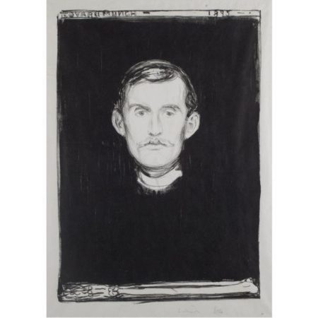 Selvportrett / Self-Portrait / Selbstbildnis / Selbstportrat (Woll 37; Schiefler 31)-1895