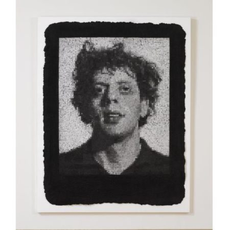 Chuck Close-Phil III, Black (Butler Institute 25)-1982