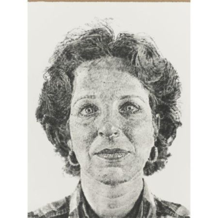 Chuck Close-Leslie - fingerprint; Emily - fingerprint-1986
