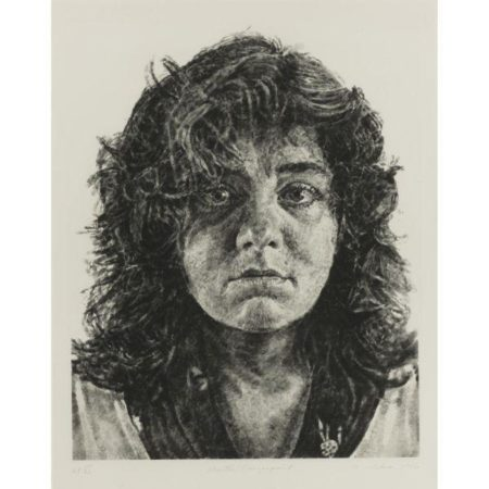 Chuck Close-Marta, Fingerprint (Butler Institute 44)-1986