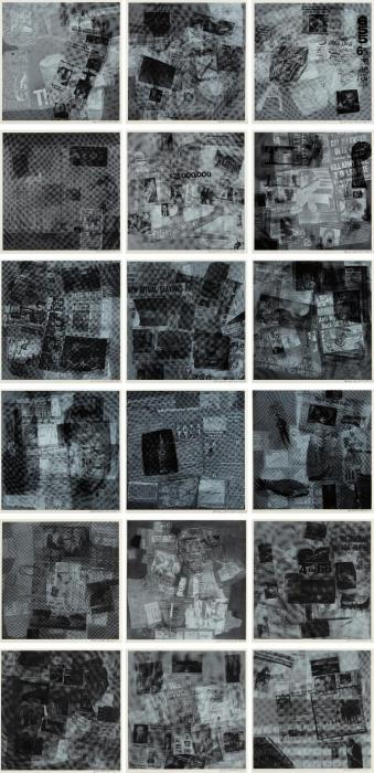 Robert Rauschenberg - Surface Series (From Currents) (F.108 - F. 125)-1970