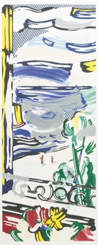 Roy Lichtenstein-View From the Window (from the Landscape Series)-1985