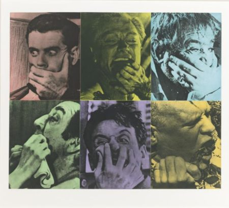 John Baldessari-Six Colorful Gags (Male)-1991