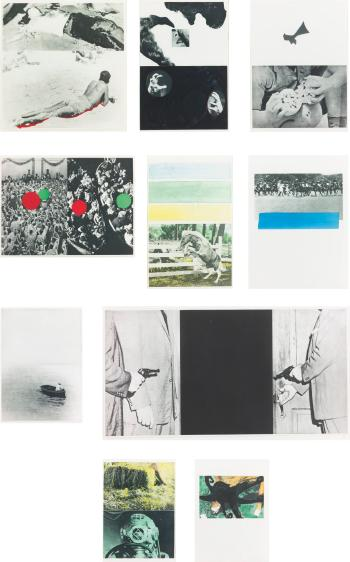 John Baldessari-Hegel's Cellar (C. H. 21-30)-1986