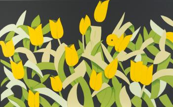 Alex Katz-Tulips / Yellow Tulips-2014