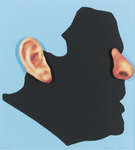 John Baldessari-Profile With Ear And Nose (Color); One Face (Three Versions) With Nose, Ear, And Glasses (C H 167 And 170); Three Government Personnel (One Blonde)-2008