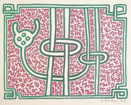 Keith Haring - Chocolate Buddha-1989